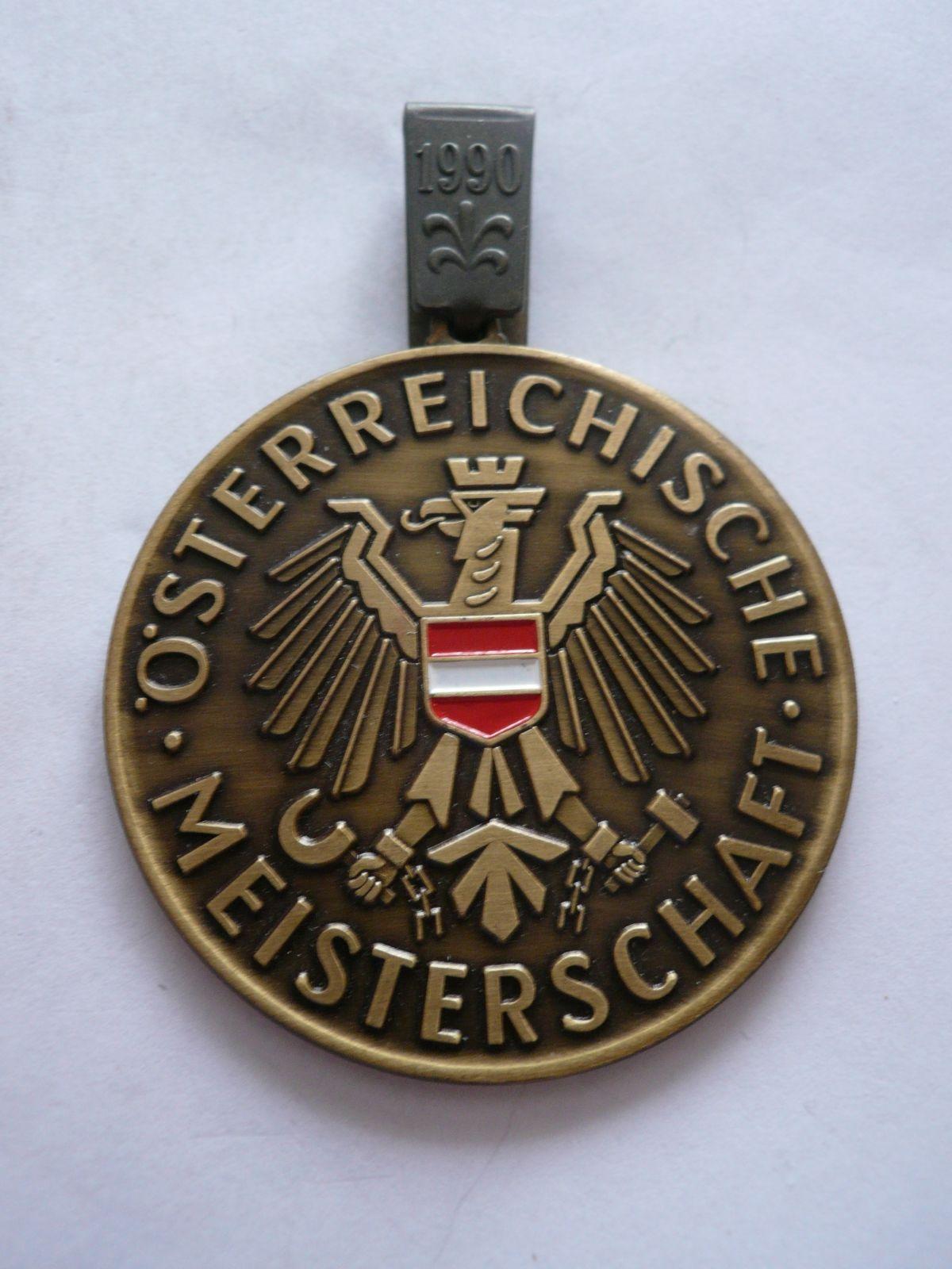 mistr střelby z pistole, 1990, průměr 90mm, Rakousko