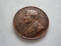 Pavel Josef Šafařík, 1895, bronz průměr 58mm, Čechy