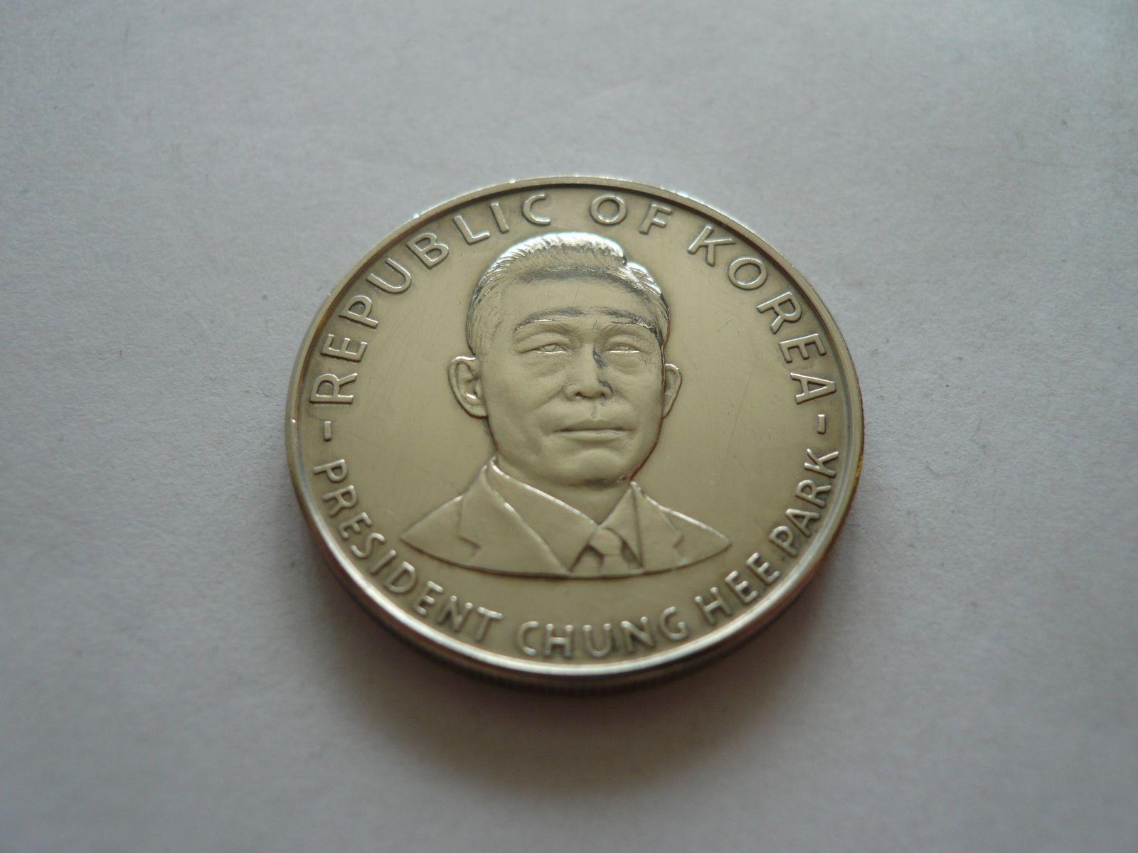 prezident Chung-Hee-Park, Jižní Korea, Ag průměr 30mm, Jižní Korea
