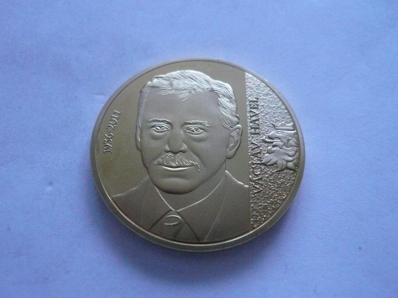 Václav Havel, zlaceno průměr 40mm, Největší Čech, ČR