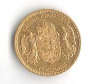 10 Korun(1892-Au 900-3,4g-ražba KB), stav 1/1- dr.hr.