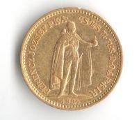 10 Korun(1894-Au 900-3,4g-ražba KB), stav 1/1- dr.hr.