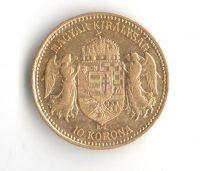 10 Korun(1898-Au 900-3,4g-ražba KB), stav 1/1- dr.hr.