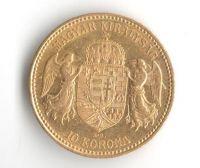 10 Korun(1899-Au 900-3,4g-ražba KB), stav 1/1- dr.hr.