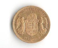 10 Korun(1902-Au 900-3,4g-ražba KB), stav 1/1- dr.hr.