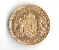 10 Korun(1904-Au 900-3,4g-ražba KB), stav 1/1- dr.hr.