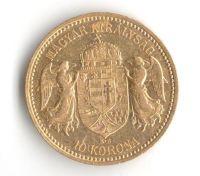10 Korun(1905-Au 900-3,4g-ražba KB), stav 1/1- dr.hr.
