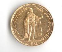 10 Korun(1911-Au 900-3,4g-ražba KB), stav 1/1- dr.hr.
