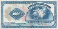 1000Kč/1932/, stav 2 perf. SPECIMEN, série B