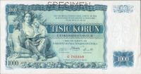 1000Kč/1934/, stav 1 perf. SPECIMEN, série C