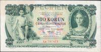 100Kč/1931/, stav 1 perf. SPECIMEN, séria La