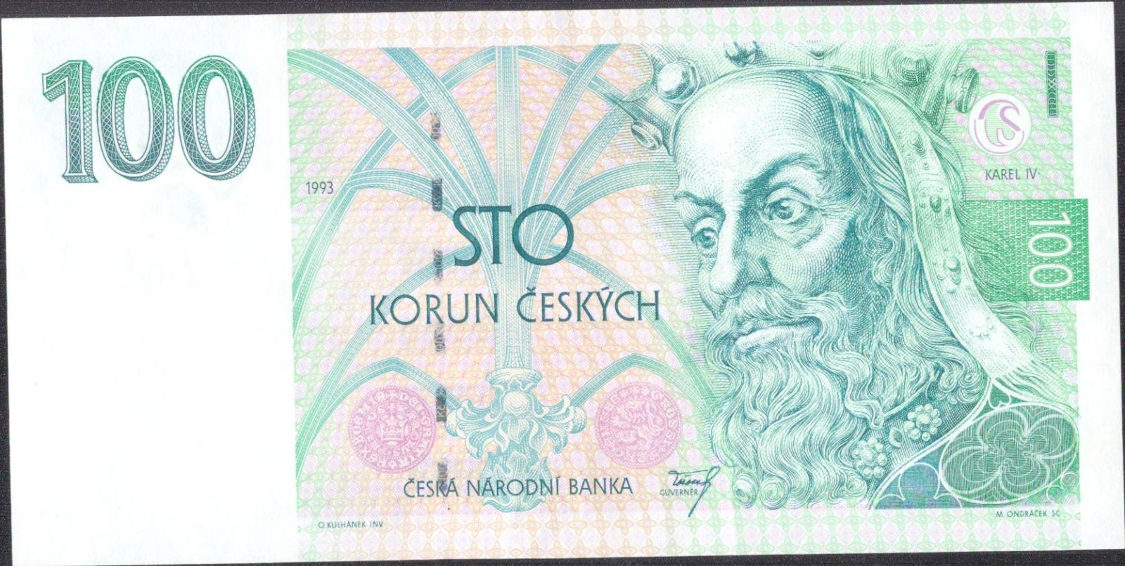 100Kč/1993/, stav 1, série A 15 - tisk Londýn