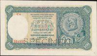 100Ks/1940/, stav 0 perf SPECIMEN dole, série C 6 - II.vydání