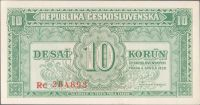 10Kčs/1950/, stav 0, série Rc