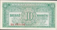 10Kčs/1950/, stav 0, série Ua