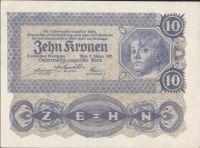 10Korun/1922/, stav 0/UNC