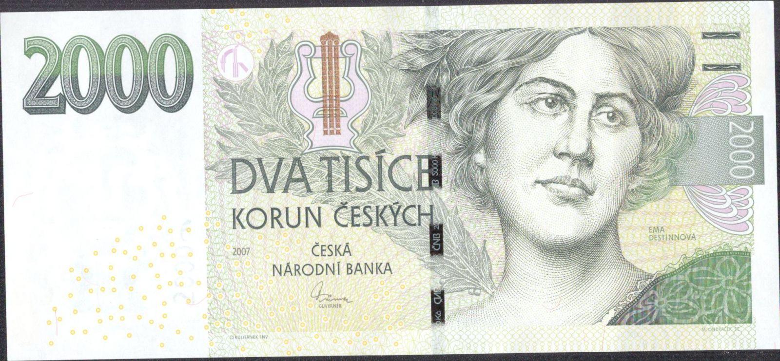 2000Kč/2007/, stav UNC, série K 14