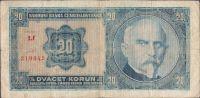 20Kč/1926/, stav 4, série Lf