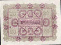 20Korun/1922/, stav 0/UNC