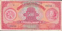 500Kč/1929/, stav 2 perf. SPECIMEN, série H