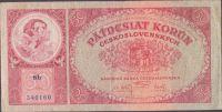 50Kč/1929/, stav 2-, série Sb