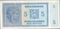 5K/1938-40/, stav 3-, série A 014 - ruční přetisk (velmi slabý otisk)