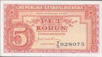 5Kčs/1945-bl/, stav 0, série TS