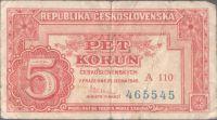 5Kčs/1949/, stav 3, série A 110