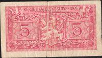 5Kčs/1949/, stav 4, série A 153