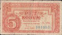 5Kčs/1949/, stav 4, série A 156