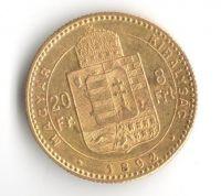 8 Zlatník(1892-Au 900-6,45g-ražba KB-znak FIUME), stav 1/1- dr.hr.
