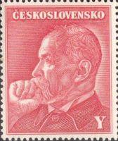 Kolek TGM, písmeno Y - červený, s originálním lepem (používaný na 1000Ks 1940)