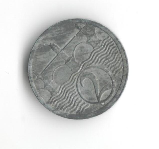 2 Haléř(1924), stav 1+/1+