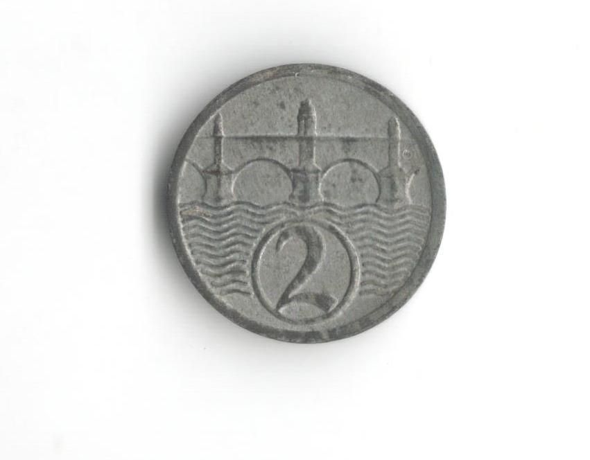 2 Haléř(1925), stav 1+/1+
