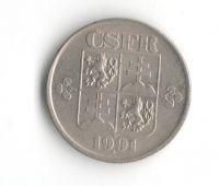 50 Haléř(1991), stav 1+/1+, nový znak ČSFR