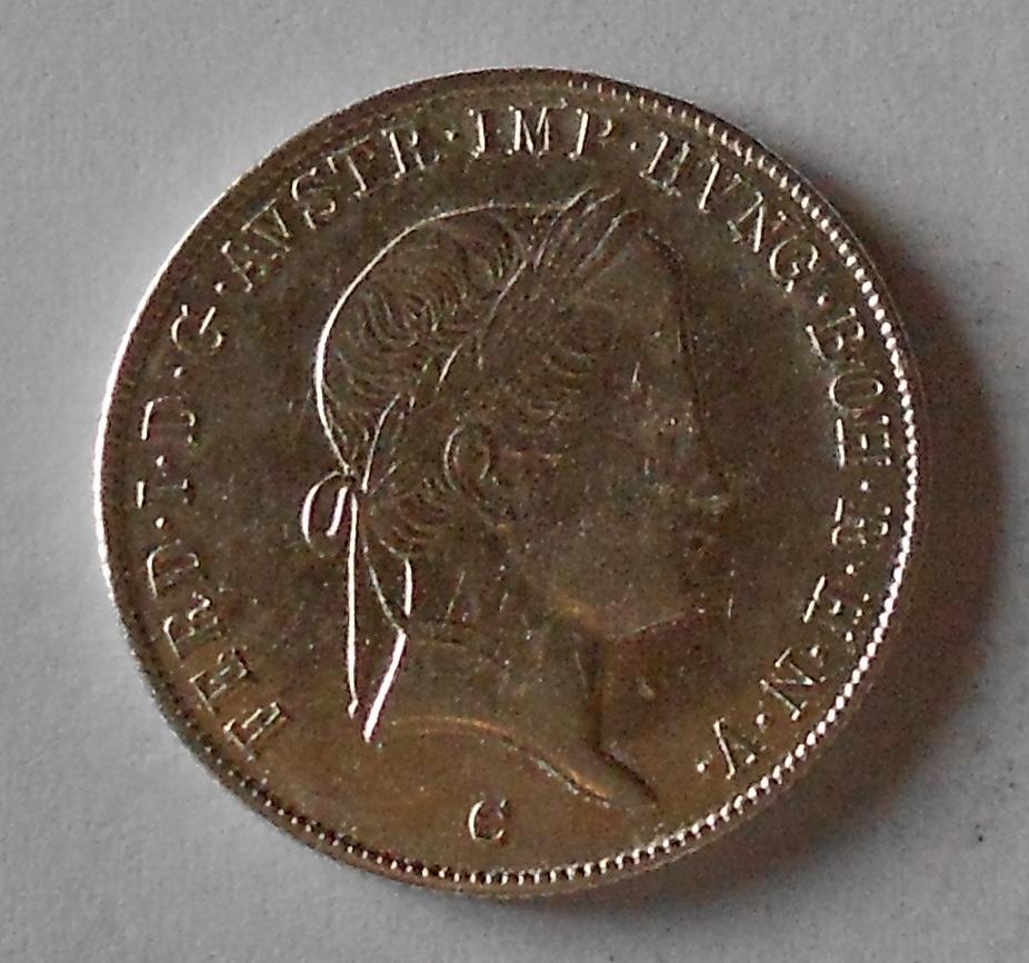 Čechy 20 Krejcar 1844 C Ferdinand V., stav