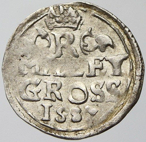 Malý groš, Rudolf II.(1587-K. Hora - Šatný)