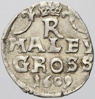 Malý groš, Rudolf II.(1609-K. Hora - Škréta)