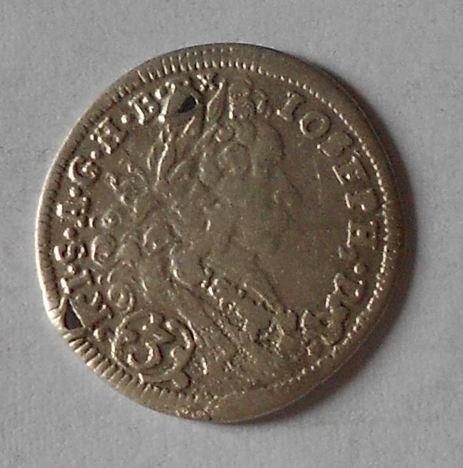 Mnichov 3 Krejcar 1710 Josef I., dírka
