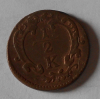 Rakousko 1/2 Krejcar 1740-1780 Marie Terezie