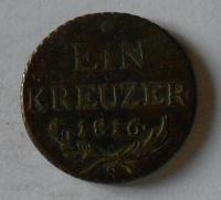 Rakousko 1 Krejcar 1816 S František II.