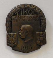 Rakousko Čepicový odznak Tyroly 1915 Fr. Josef I.