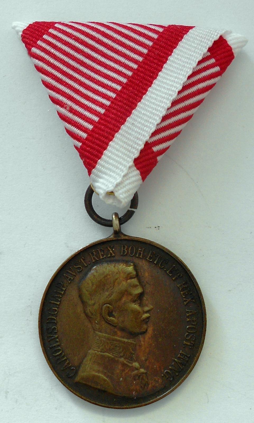 Rakousko Fortitudini – bronz Karel