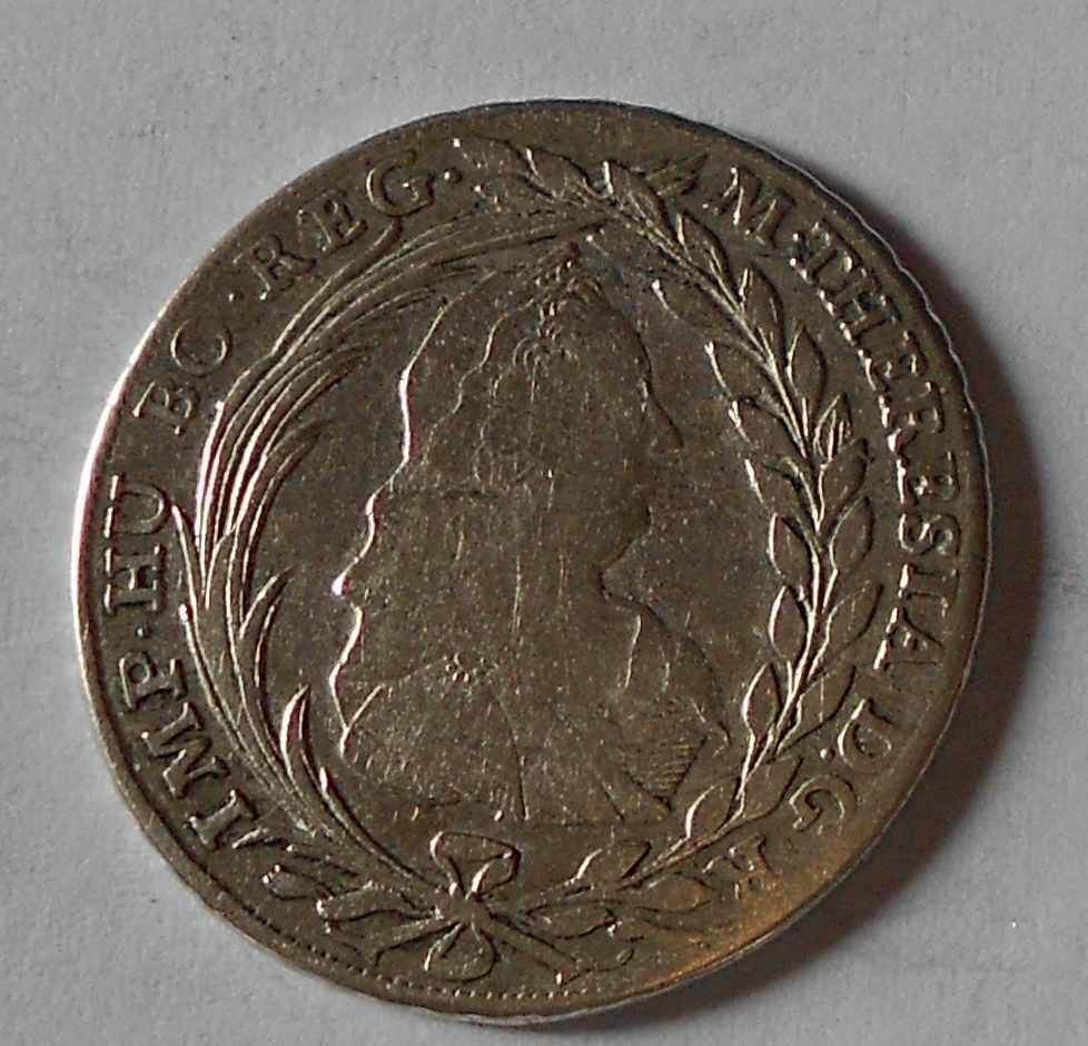 Rakousko – Halle 20 Krejcar 1780 VCS Marie Terezie