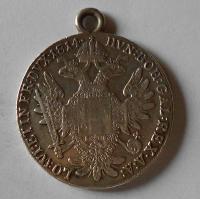Rakousko Tolar 1814 G František II., dobové ouško