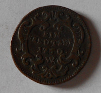 Rakousko – Vídeň 1 Krejcar 1760 W František Lotrinský