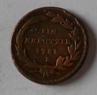 Uhry 1 Krejcar 1781 B Josef II.