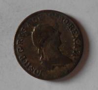 Uhry 1 Krejcar 1790 S Josef II.