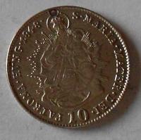 Uhry 10 Krejcar 1848 B Ferdinand V., dirka