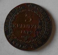 Uhry 3 Krejcar 1812 B František II.